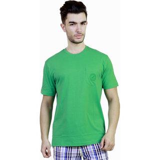 Caribbean Joe Plus Mens Gator green Pocket Crew Island T-shirt