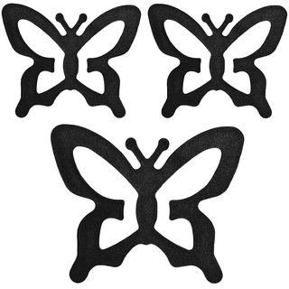 AAYAN BABY Black Butterfly Bra Strap Clips (Pack of 3)
