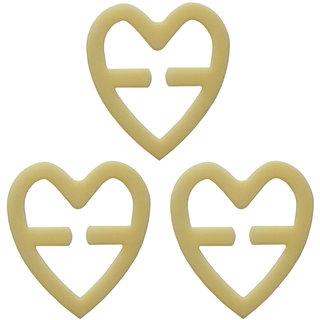 AAYAN BABY Beige Heart Shape Bra Strap Clips (Pack of 3)