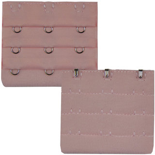 AAYAN BABY Light Pink Combo 3 Hook Bra Strap Extender (Pack of 2)