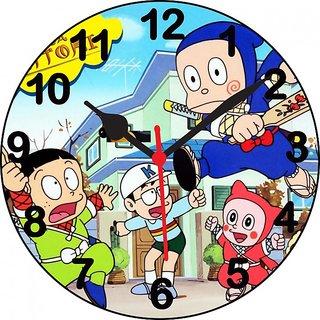 ske ninja hattori with friend wall clock