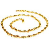 Aadi Jewels Collection With A Solid Ball Pattern Chain