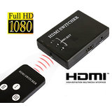 Gadget Hero's 3 Port Mini 1080p HDMI Switcher Splitter Box For With Remote PS3, HDTV, DVD, HD Set Top Box, XBOX, HD Media Player