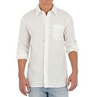 Grahakji Men's White Regular Fit Formal Shirt