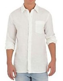 Grahakji Men's White Regular Fit Formal Poly-Cotton Shirt