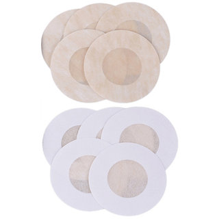 AAYAN BABY Round Stick on Cotton Peel and Stick Disposable Nipple Covers
