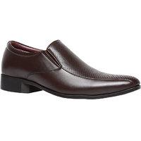 Bata MenS Martin Slip Brown Formal Slip On Shoes