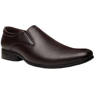 Bata MenS Alfred Brown Formal Slip On Shoes