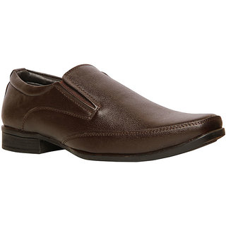 Bata MenS Axel Brown Formal Slip On Shoes