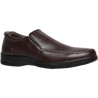 Bata MenS Qihan Brown Formal Slip On Shoes