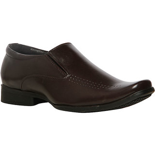 Bata MenS Leo Brown Formal Slip On Shoes