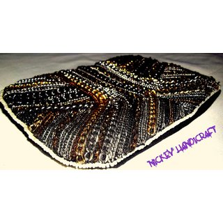 Embroidered Pouch Metal Chain