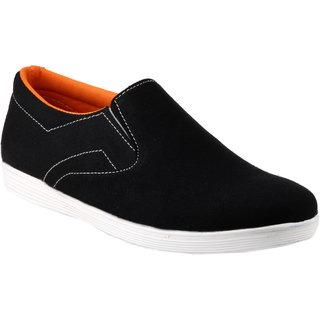 Zebra MenS Black Slip On Sneakers Shoes