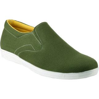 Zebra MenS Green Slip On Sneakers Shoes