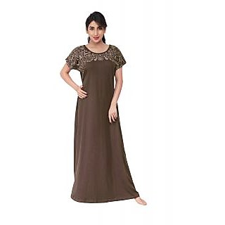 Buy Honeydew Brown Cotton Printed Nighty Online   ₹640 from ShopClues f419fcb07