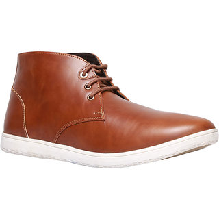 Bata MenS Jhabbar Brown Lace-Up Boots