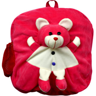 Funtastik Pink Happy Teddy Design Kids Bag