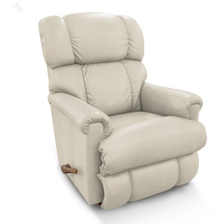 La-Z-Boy Recliner with White Rexine Cover - Pinnacle