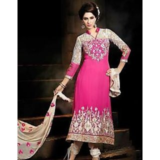 Fashion Pink Party Wear Suit Salwar Kameez