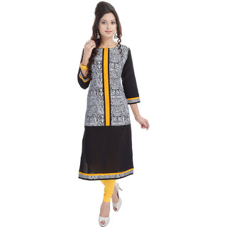 Beautiful  COTTON Printed Yellow Kurti From the House of  Palakh