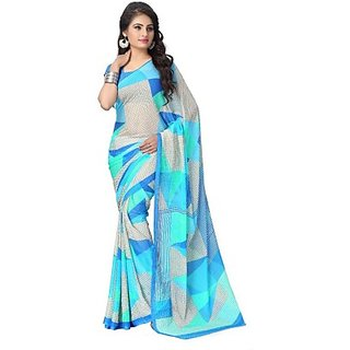 QUEENTRENDS Printed Fashion Cotton Sari