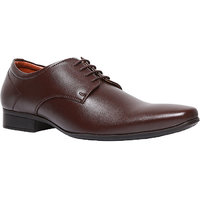 Bata MenS Pine-Derby Brown Formal Lace-Up Shoes