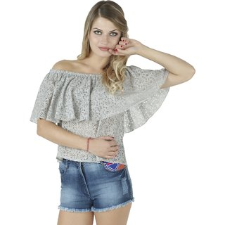 bae176f6a0ab0b Buy IRALZO Off Shoulder Ruffle Top Online   ₹849 from ShopClues