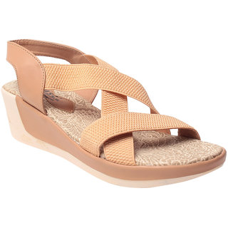 Msc Beige WomenS Wedges