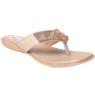 MSC Women's Cream Flats