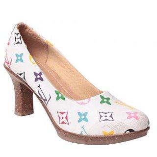 MSC Women's White Heels