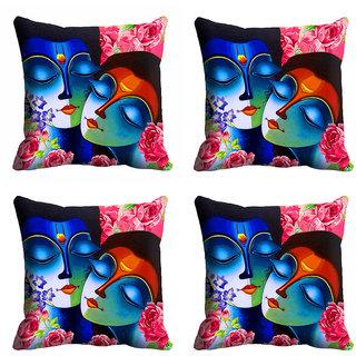 meSleep 3D Radha Krishna Cushion Cover (16x16)
