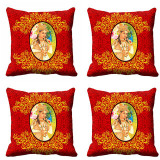 meSleep Ethnic Rani Cushion Cover (16x16)
