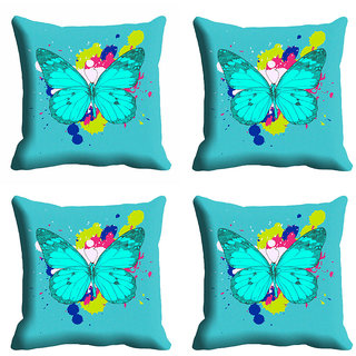 meSleep Beautiful Butterfly Cushion Cover (16x16)