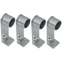 Aone Quality 233 Stainless Steel L Drop Brackets - Pack Of 4