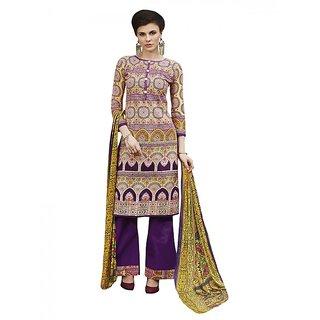 c76e5bc1ea Sareemall Multicolor Cotton Printed Salwar Suit Dress Material (Unstitched)