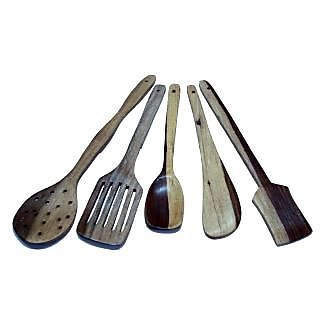 Wooden Kitchen Tool Set of 5 Pieces