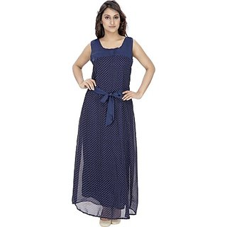 Rashi Creation Womens Maxi Dark Blue Dress