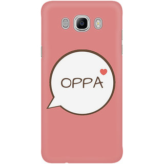 The Fappy Store Oppa Pink Mobile Back Cover