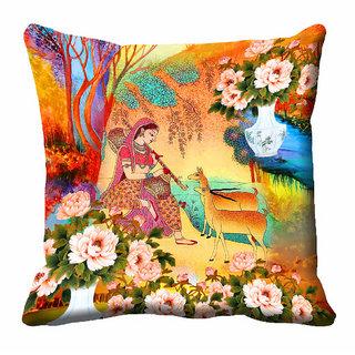 meSleep 3D Beautiful Nature Cushion Cover (16x16)