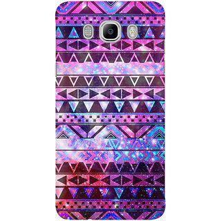 The Fappy Store Girly Andes Aztec Pattern Pink Teal Nebula Back Cover