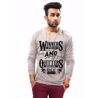 Designs Printed Mens V Neck T- Shirt