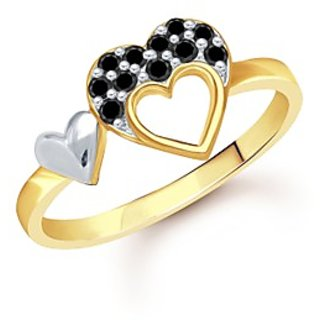 Heart Gold And Rhodium Plated Ring