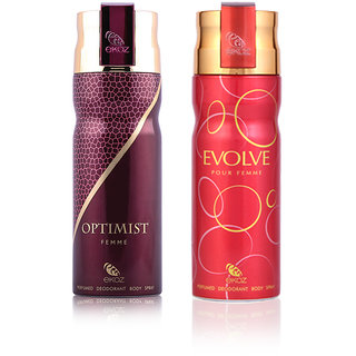 Ekoz Optimist + Evolve Femme Deo Combo pack of 2