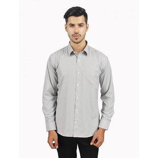 Srn Cotton Blend Mini Checks Black Slim Fit Shirt