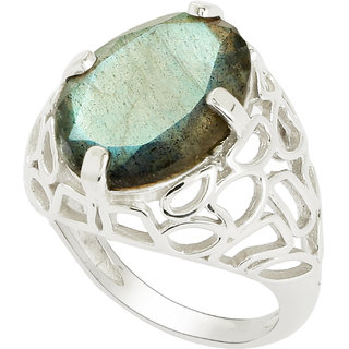 f4e5a41b6c Buy Shine Jewel Shining Labradorite Gemstone 925 Silver Ring Online ...