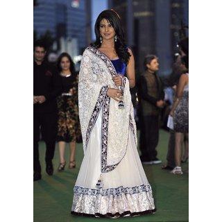 Fabulous Style Velvet white Lengha choli