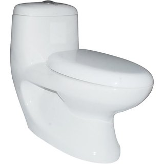 Elegant casa Single Pc Toilet Vitreous Floor Mounted S Trap White With 300 Mm