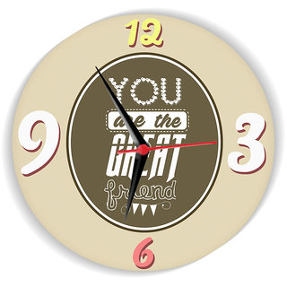 Sky Trends You Are The Great Friend With Mehndi Color Stylish Gifts For Birthday And Anniversary Wall Clock