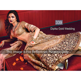 KMOZI Dipika Gold Wedding Latest Lengha