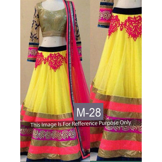 KMOZI Yellow Colour Designer Lengha Choli
